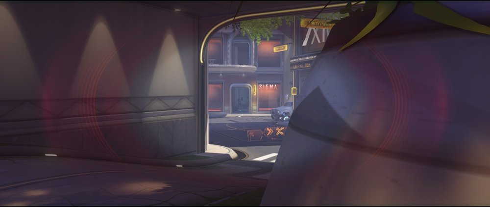 Ground level view choke defense Widowmaker sniping spot Numbani Overwatch.jpg