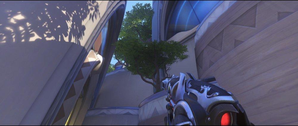 Side defense to tree third point Widowmaker sniping spot Numbani Overwatch.jpg