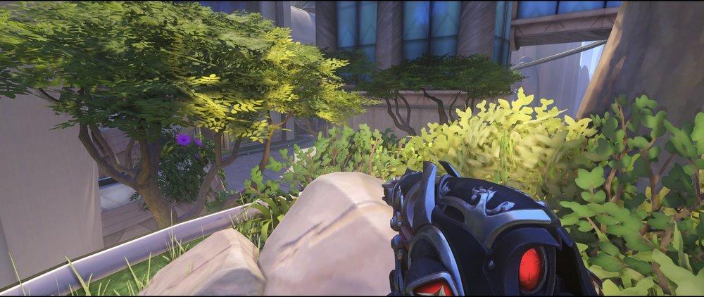 Final area rocks third point defense Widowmaker sniping spot Numbani Overwatch.jpg