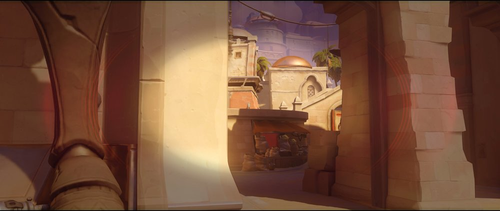 Gate left side attack Widowmaker sniping spot Temple of Anubis Overwatch.jpg