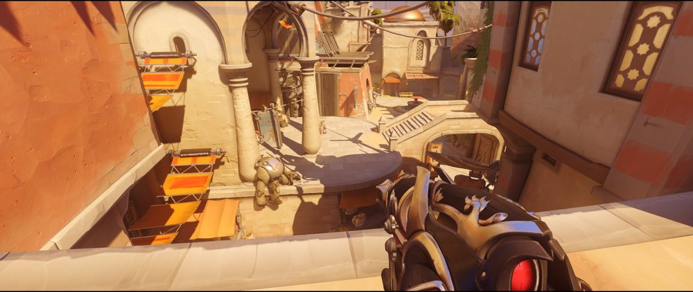 On the gate view attack Widowmaker sniping spot Temple of Anubis Overwatch.jpg