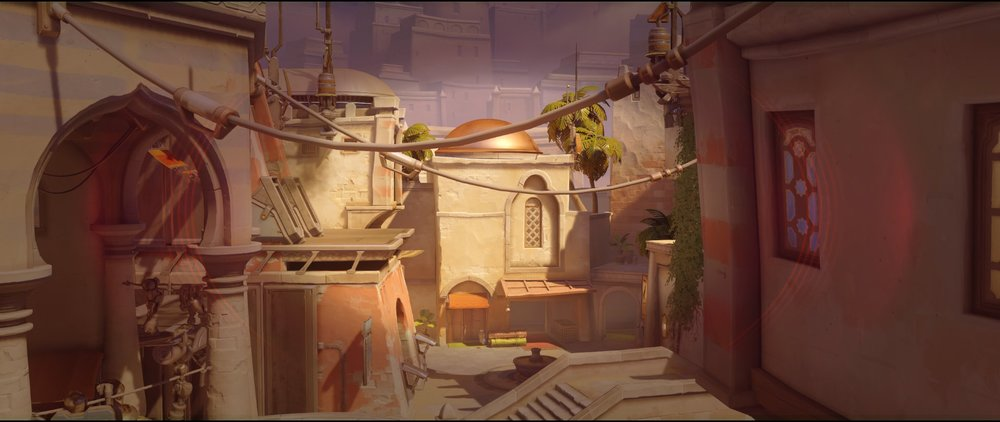 Gate to high ground view attack Widowmaker sniping spot Temple of Anubis Overwatch.jpg