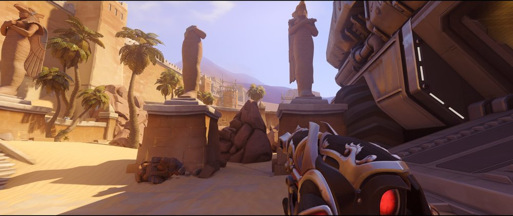 Statues attack Widowmaker sniping spot Temple of Anubis Overwatch.jpg