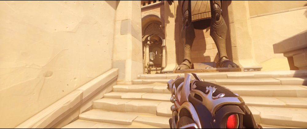 Stairs before gate attack Widowmaker sniping spot Temple of Anubis Overwatch.jpg
