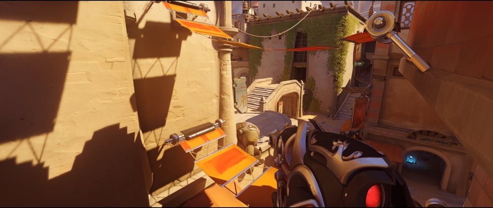 Long first high ground view attack Widowmaker sniping spot Temple of Anubis Overwatch.jpg