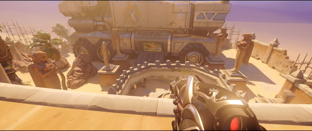 Gate defense Widowmaker sniping spot Temple of Anubis Overwatch