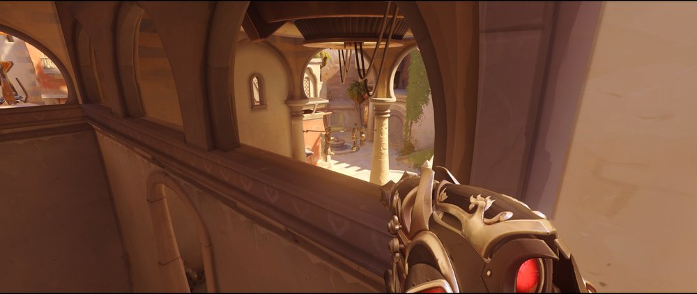 Long arc main attack Widowmaker sniping spot Temple of Anubis Overwatch.jpg