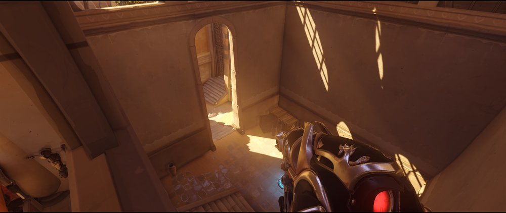 Flank long view defense Widowmaker sniping spot Temple of Anubis Overwatch.jpg