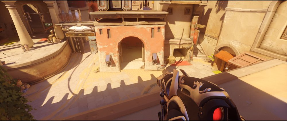 Balcony attack Widowmaker sniping spot Temple of Anubis Overwatch.jpg