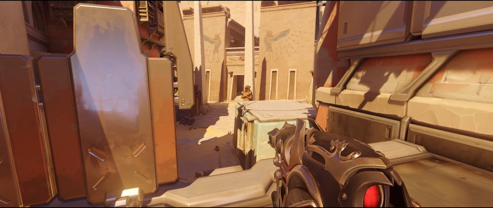 Left side nest attack Widowmaker sniping spot Temple of Anubis Overwatch.jpg