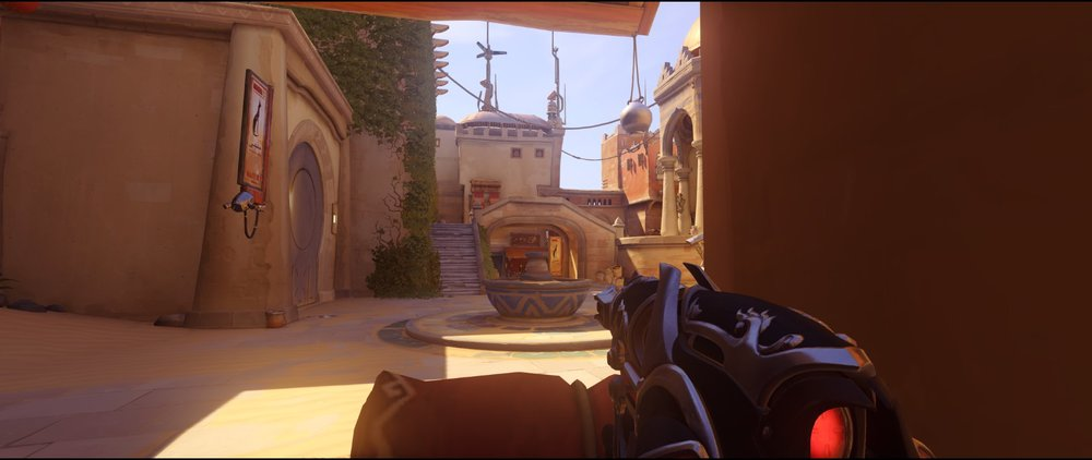 Closed ground level defense Widowmaker sniping spot Temple of Anubis Overwatch.jpg