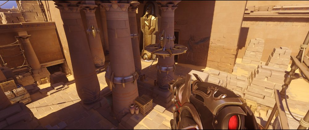 Pillars two view second point attack Widowmaker sniping spot Temple of Anubis Overwatch.jpg