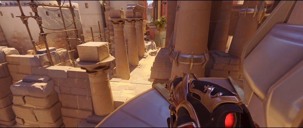 Crows left view defense Widowmaker sniping spot Temple of Anubis Overwatch.jpg