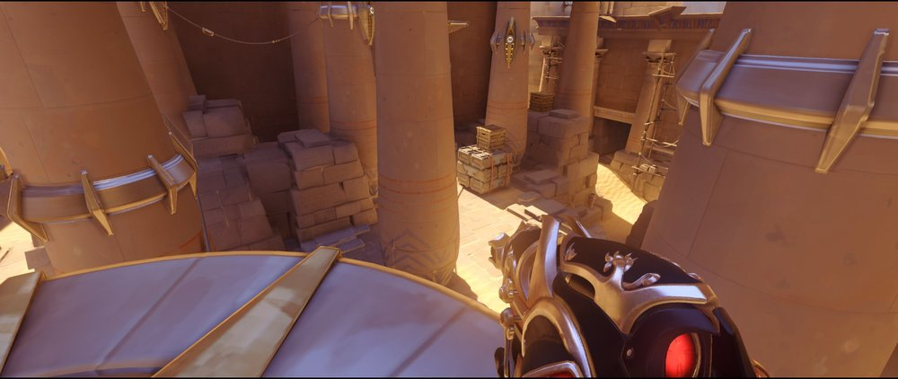 Crows right view defense Widowmaker sniping spot Temple of Anubis Overwatch.jpg