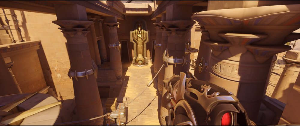Gate view attack point two Widowmaker sniping spot Temple of Anubis Overwatch.jpg