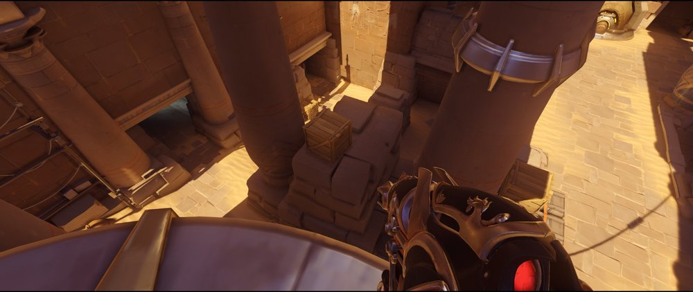 Left side attack second point Widowmaker sniping spot Temple of Anubis Overwatch.jpg