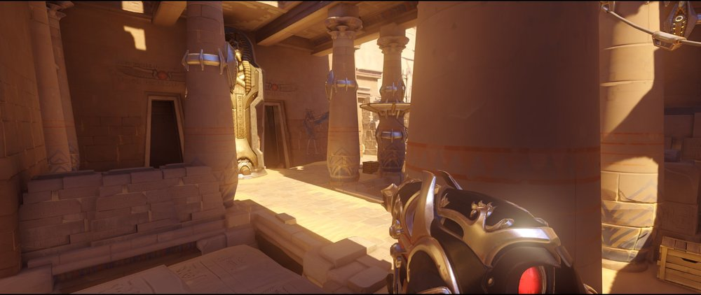 Left side view attack second point Widowmaker sniping spot Temple of Anubis Overwatch.jpg