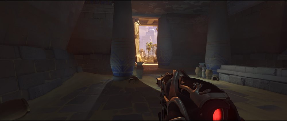 Underground attack view Widowmaker sniping spot Temple of Anubis Overwatch.jpg
