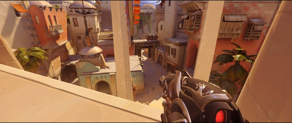 Gate view point two defense Widowmaker sniping spots Temple of Anubis Overwatch.jpg