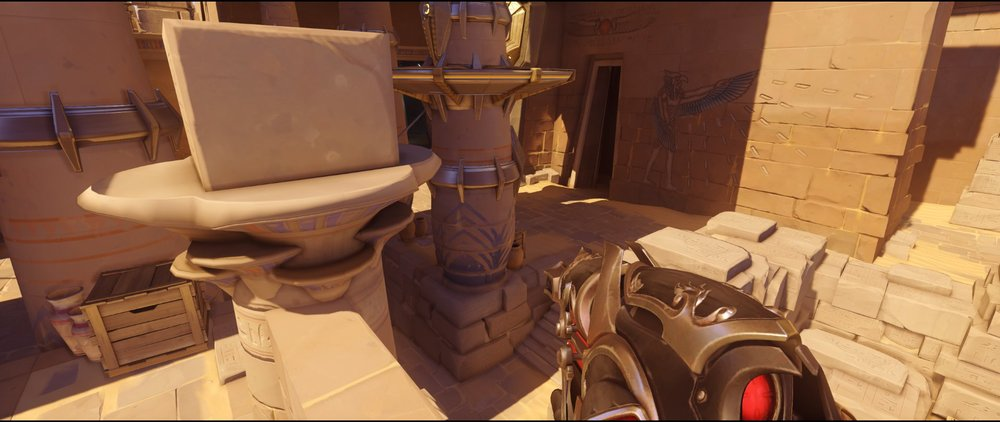 Near alley view high ground point two defense Widowmaker sniping spots Temple of Anubis Overwatch.jpg