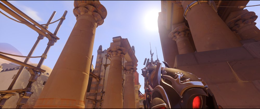 High ground flank second point defense Widowmaker sniping spots Temple of Anubis Overwatch.jpg