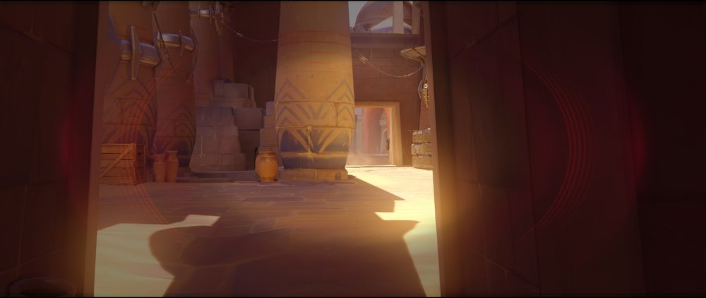 Behind the second point defense Widowmaker sniping spots Temple of Anubis Overwatch