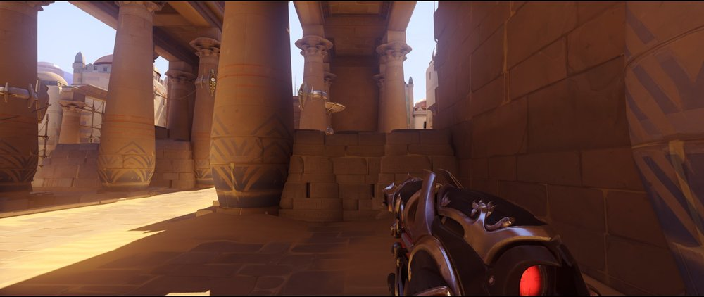 Right side point ground level defense Widowmaker sniping spots Temple of Anubis Overwatch.jpg