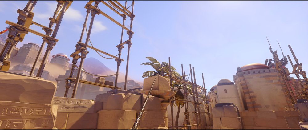 Left side high ground two defense Widowmaker sniping spots Temple of Anubis Overwatch.jpg