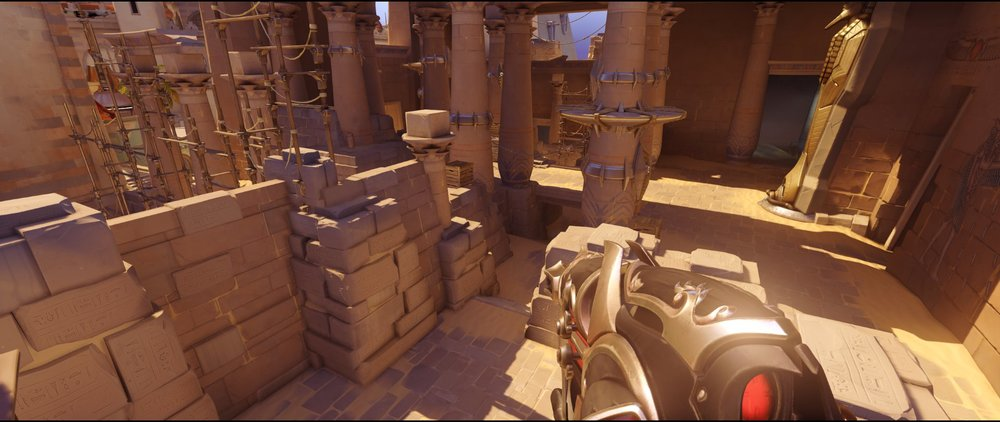 Left side high ground view defense Widowmaker sniping spots Temple of Anubis Overwatch.jpg