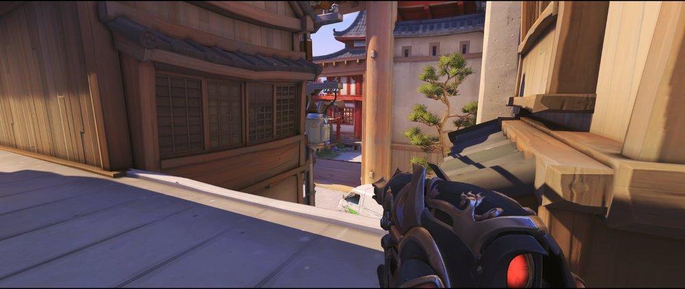 Catwalk offense Widowmaker sniping spot Hanamura Overwatch.jpg