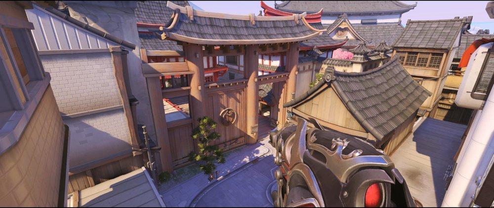 Above Bridge spot offense Widowmaker sniping spot Hanamura Overwatch.jpg