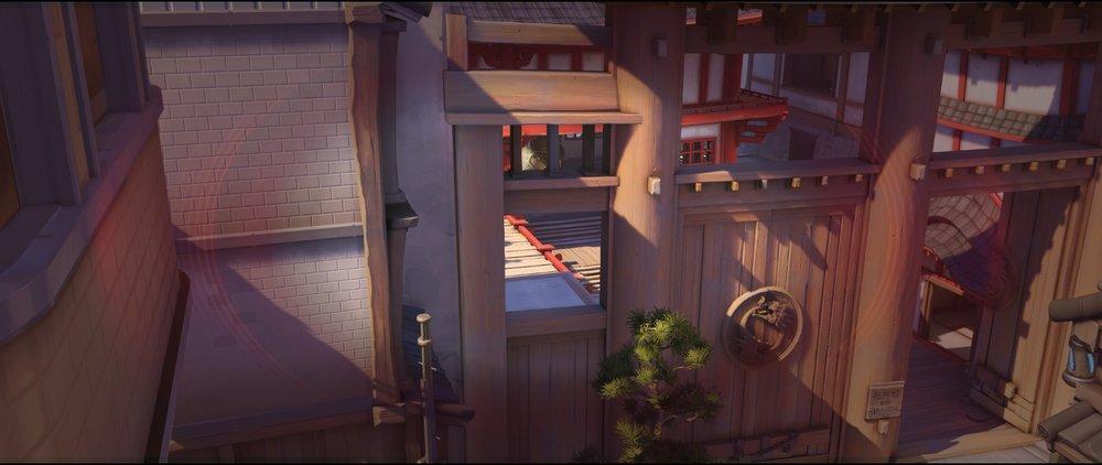 Above bridge spot left view offense Widowmaker sniping spot Hanamura Overwatch.jpg