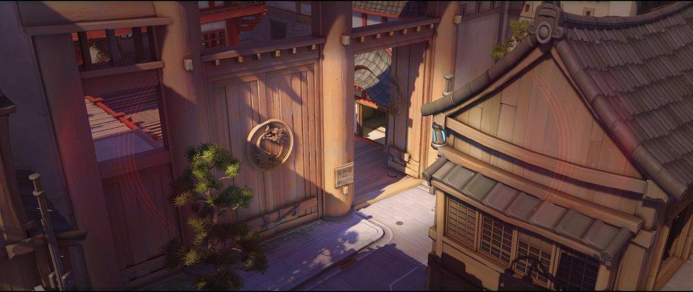 Above bridge spot right view offense Widowmaker sniping spot Hanamura Overwatch.jpg