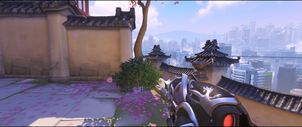 Back first point placement defense Widowmaker sniping spot Hanamura Overwatch.jpg