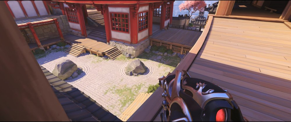 Bridge attack or defense Widowmaker sniping spot Hanamura Overwatch