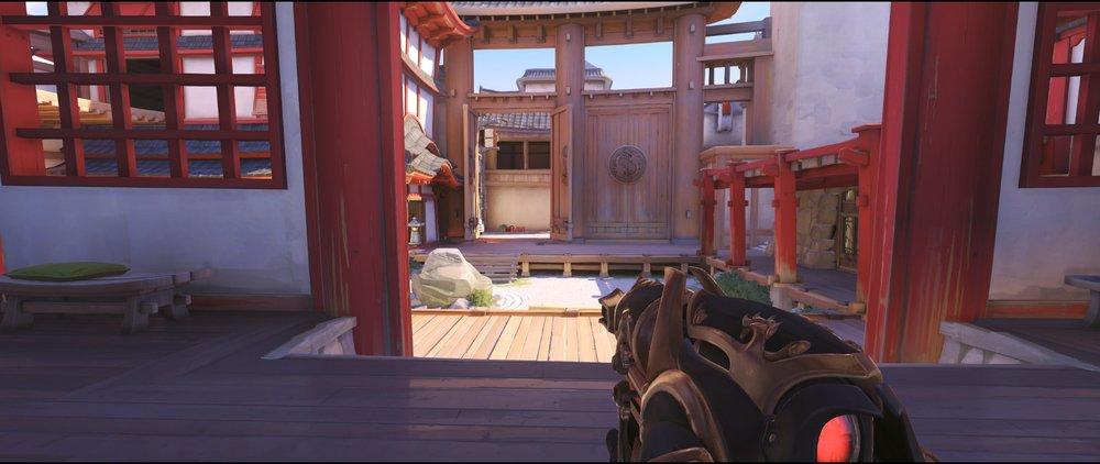 First point view defense Widowmaker sniping spot Hanamura Overwatch.jpg