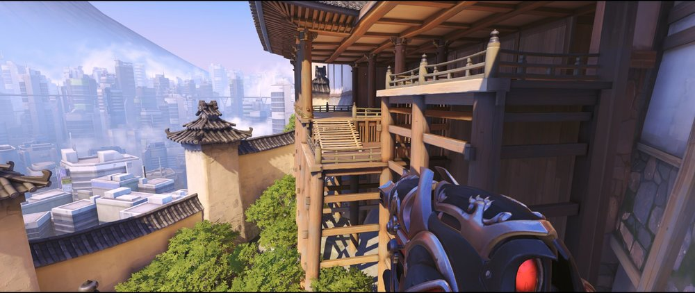 Porch attack Widowmaker sniping spot Hanamura Overwatch.jpg