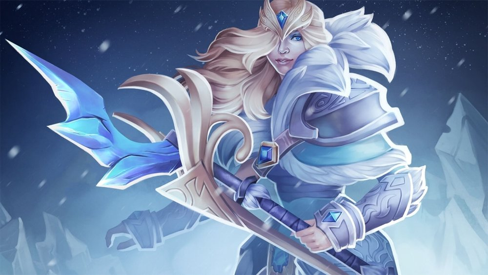 Charge of the Tundra Warden loading screen for Crystal Maiden - Valve