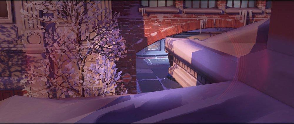Shrine second left view attack sniping spot Widowmaker Volskaya Industries Overwatch.jpg