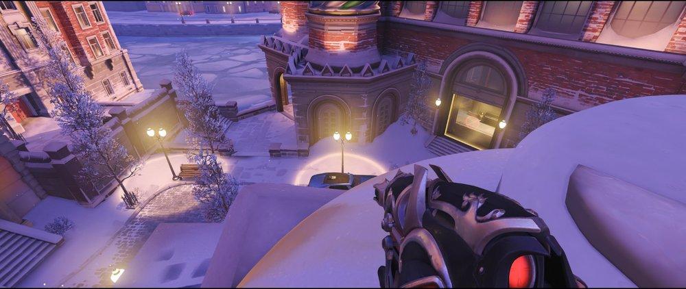 Shrine left statue defense sniping spot Widowmaker Volskaya Industries Overwatch.jpg