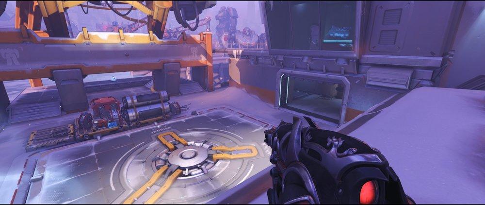 Hut to point view attack sniping spot Widowmaker Volskaya Industries Overwatch.jpg