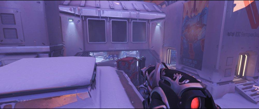 Hut to spawn view attack sniping spot Widowmaker Volskaya Industries Overwatch.jpg
