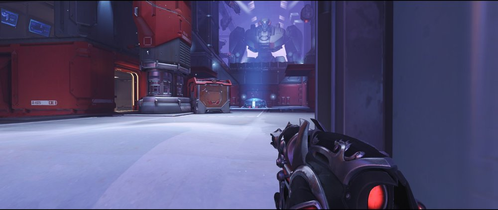 Front ground level attack sniping spot Widowmaker Volskaya Industries Overwatch.jpg