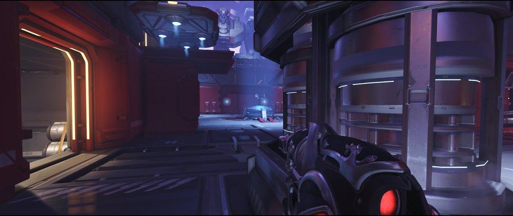 Mid ground level attack sniping spot Widowmaker Volskaya Industries Overwatch.jpg