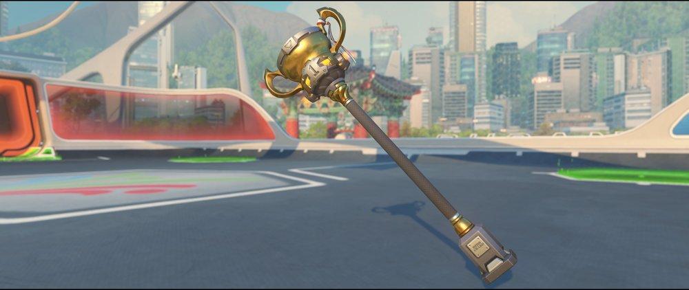 Gridironhardt hammer front legendary skin Reinhardt Summer Games.jpg