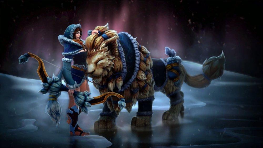 Snowstorm Huntress loading screen for Mirana - Valve