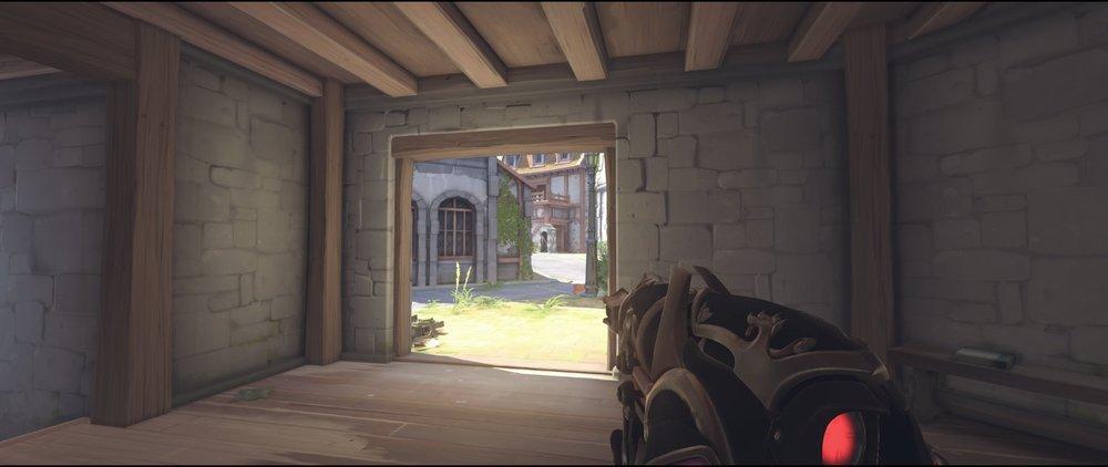 Right side first point attack sniping spot Widowmaker Eichenwalde Overwatch.jpg