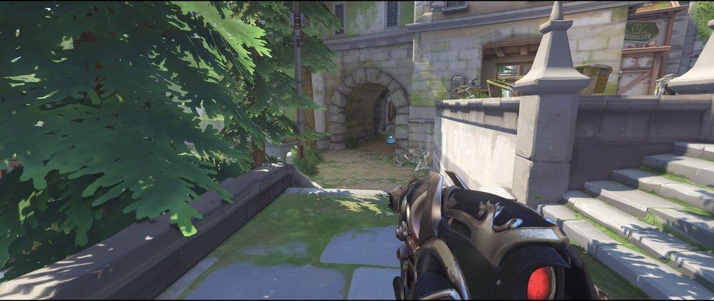 Back attack sniping spot Widowmaker Eichenwalde Overwatch.jpg