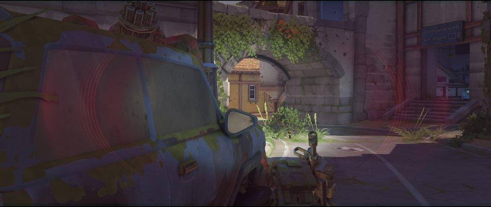Car right side defense sniping spot Widowmaker Eichenwalde Overwatch.jpg
