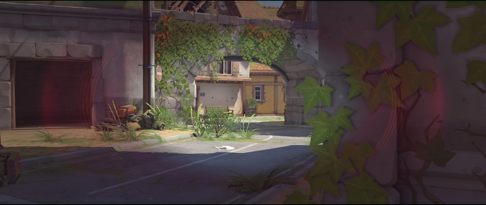 Tower left side defense sniping spot Widowmaker Eichenwalde Overwatch.jpg